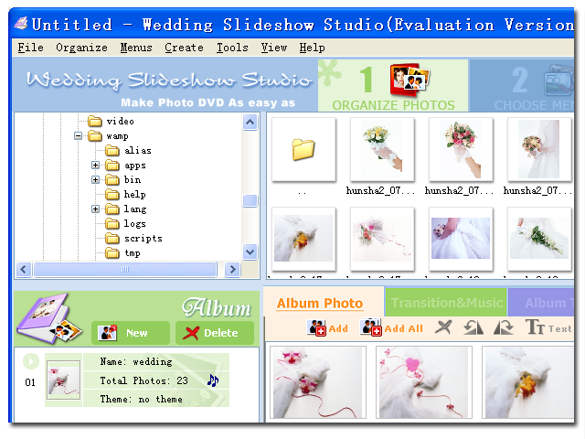 Wedding Slideshow Studio full screenshot